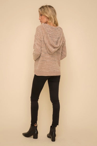 Chenille Sweater Hoodie