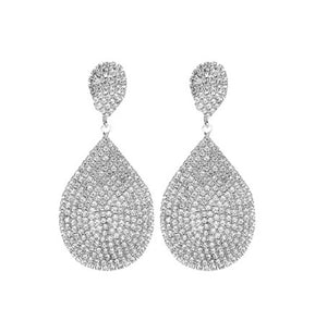 Rhinestone Teardrop Earrings