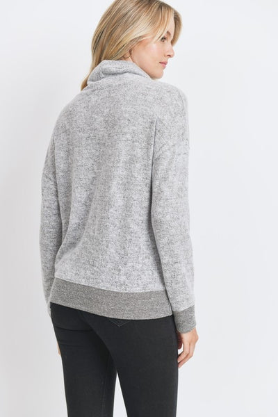 Brushed Knit Turtleneck