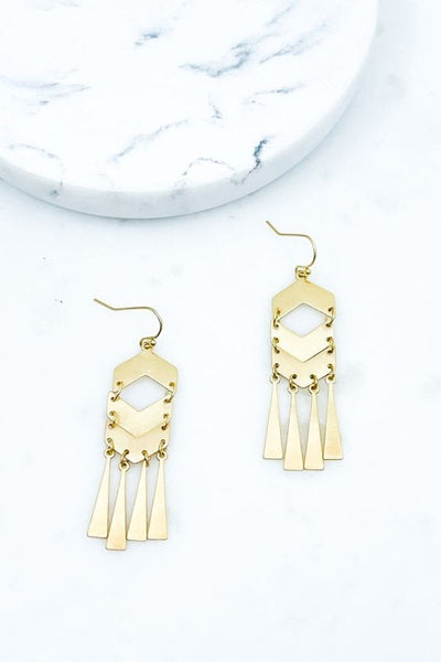 Chevron Drop Earrings