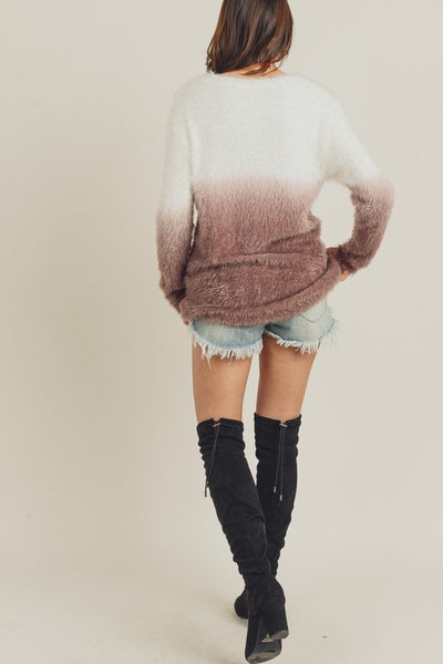 Dip Dyed Tunic Sweater