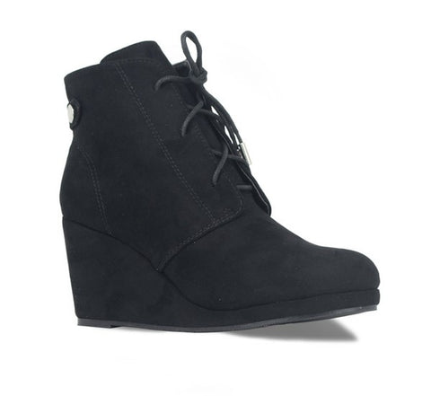 Lace Up Wedge Bootie *FINAL SALE*