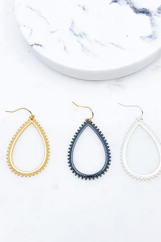 Matte Teardrop Earrings