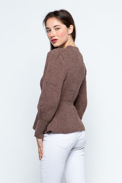 Peplum Sweater *FINAL SALE*