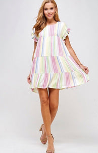 Striped Tiered Dress *FINAL SALE*