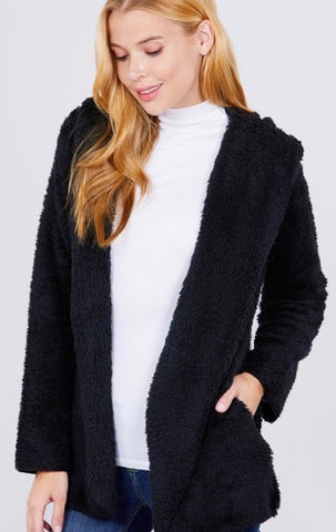Fluffy Hooded Jacket