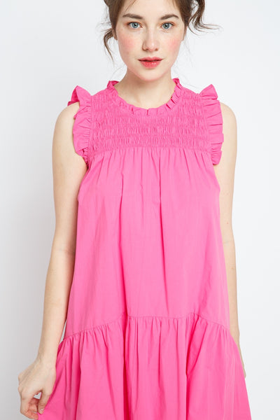 Smocked Ruffled Dress