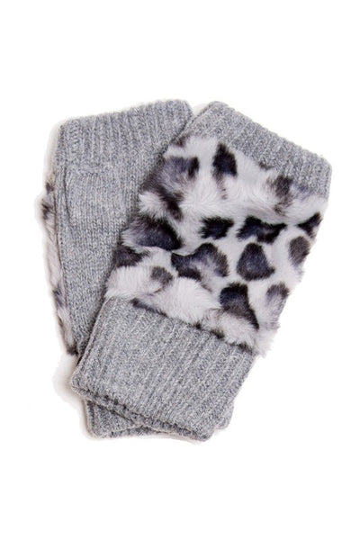 Fingerless Leopard Print Gloves *FINAL SALE*
