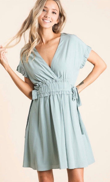Ruffled Sleeve Dress *FINAL SALE*