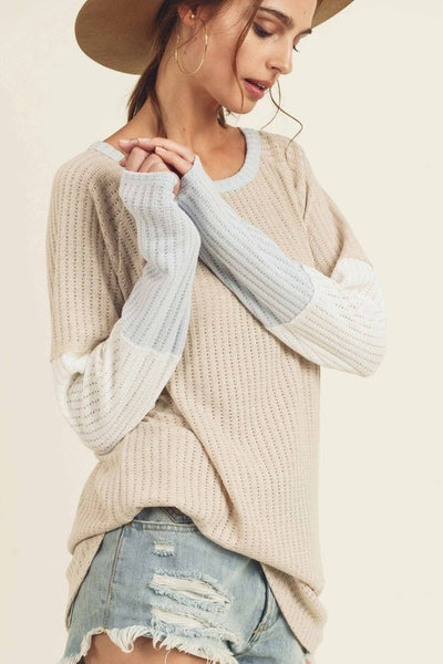 Color Block Ribbed Sweater