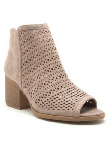 Open Toe Laser Cut Bootie
