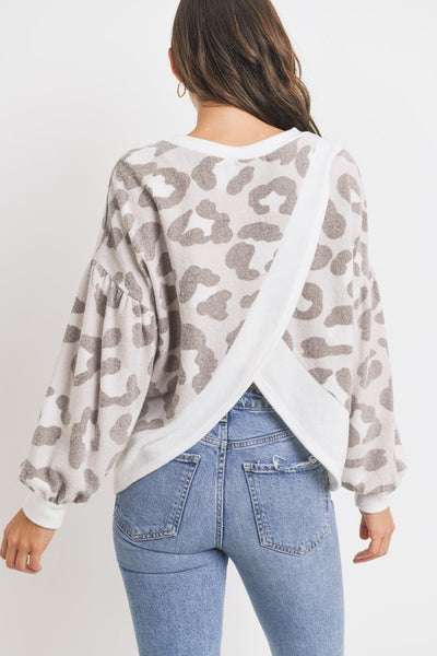 Open Back Animal Print