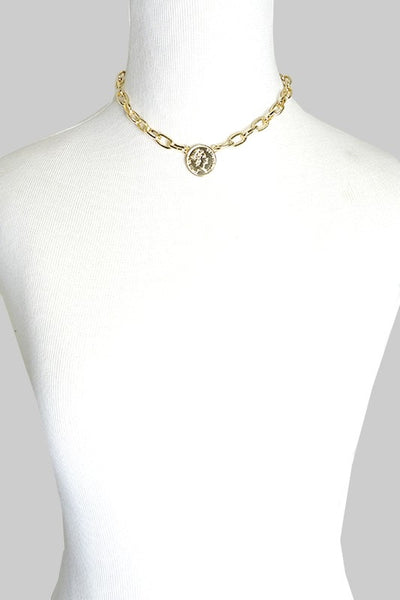 Chain Link Coin Necklace