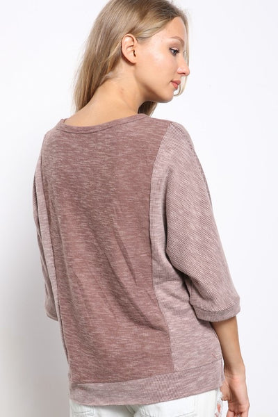 Rib Brushed Knit Top *FINAL SALE*