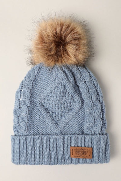 Knitted Pom Pom Hat *FINAL SALE*