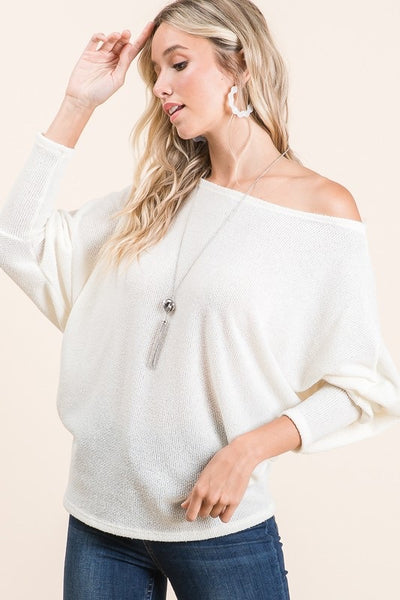 Off Shoulder Dolman Top