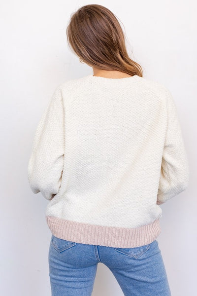 Color Block Balloon Sleeve Sweater *FINAL SALE*