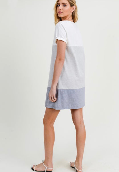Blocked Shift Dress