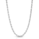 4.5mm Rope Sterling Silver Chain