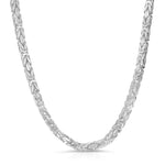 5mm Byzantine Sterling Silver Chain