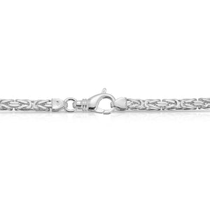 3mm sterling silver Byzantine chain
