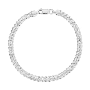 4.5mm Miami Cuban Link Bracelet Sterling Silver
