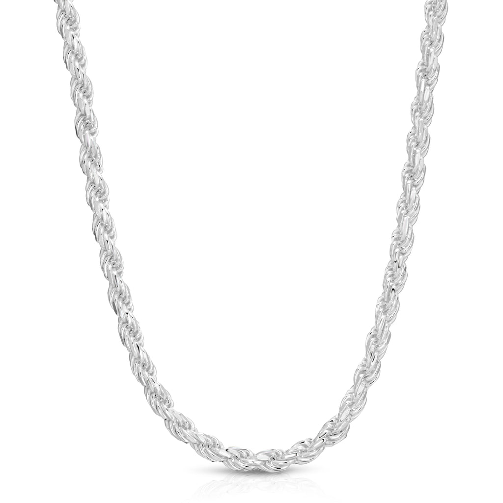 7mm Rope Sterling Silver Chain