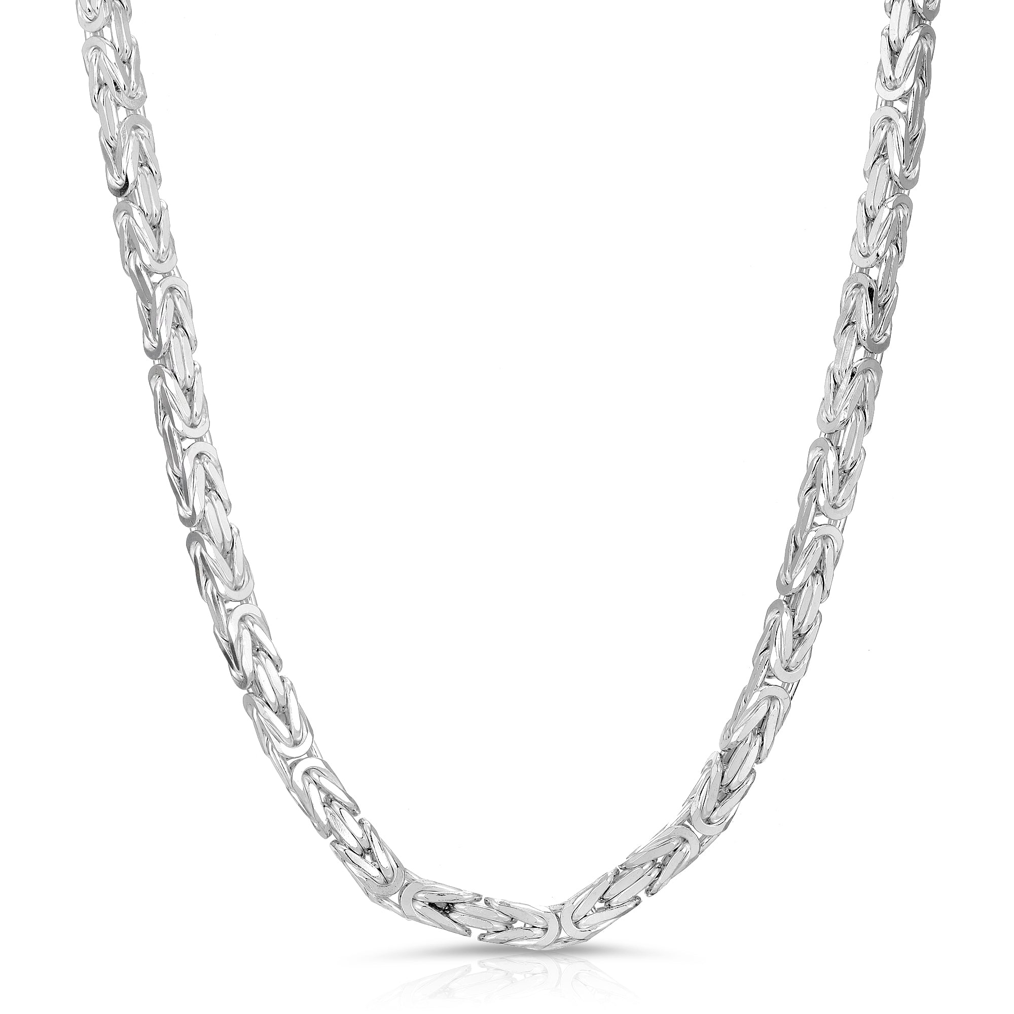 6mm Byzantine Sterling Silver Chain