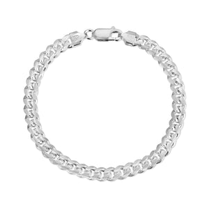 5.5mm Miami Cuban Link Bracelet Sterling Silver