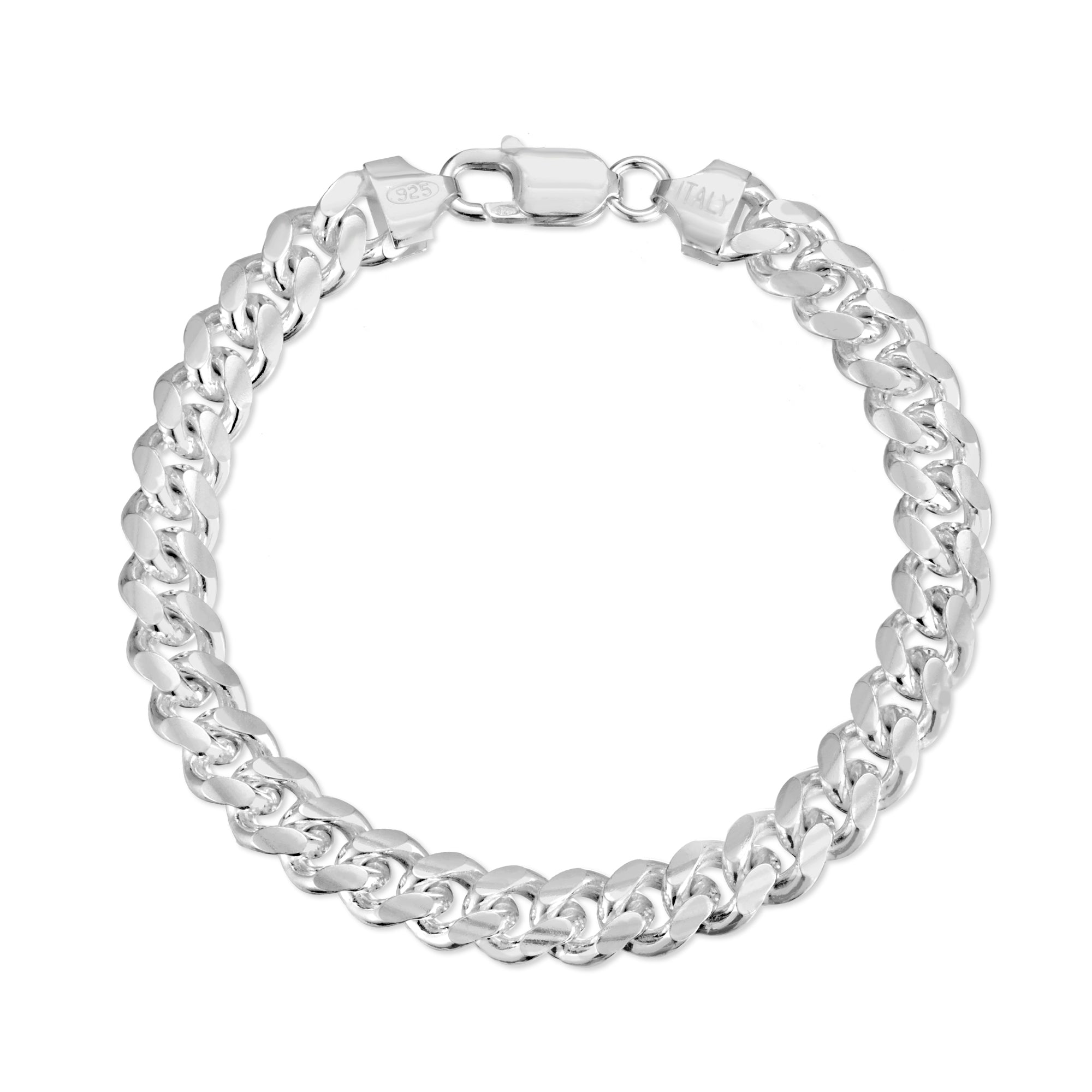 7mm Sterling Silver Miami Cuban Link Bracelet