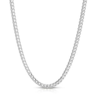 4mm silver franco chain
