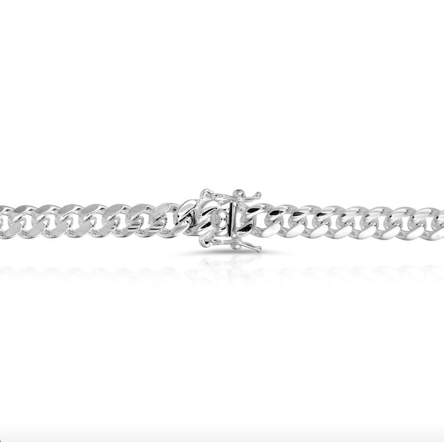 solid 925 sterling silver box lock chain