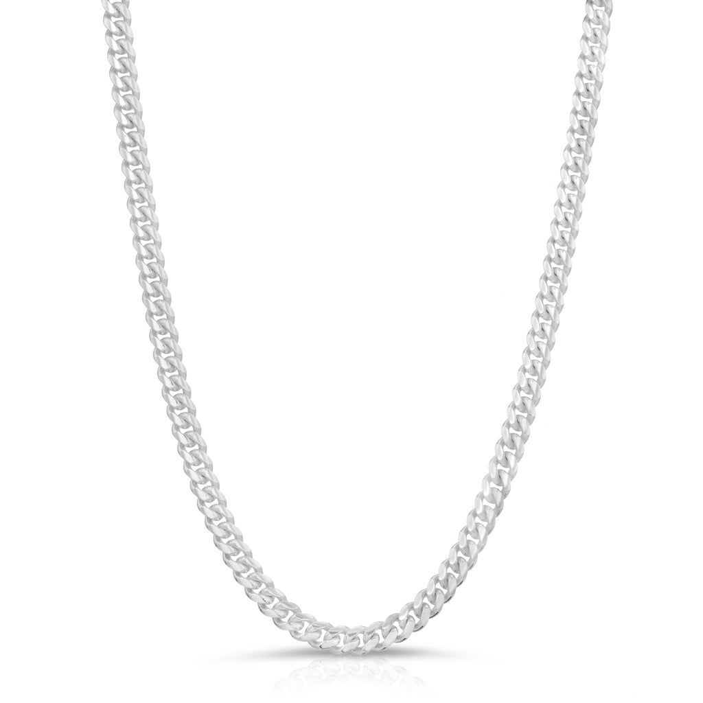 4mm Sterling Silver Miami Cuban Link Chain