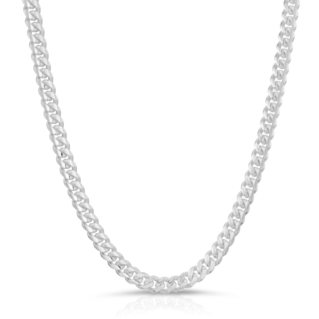 5.5mm Sterling Silver Miami Cuban Link Chain