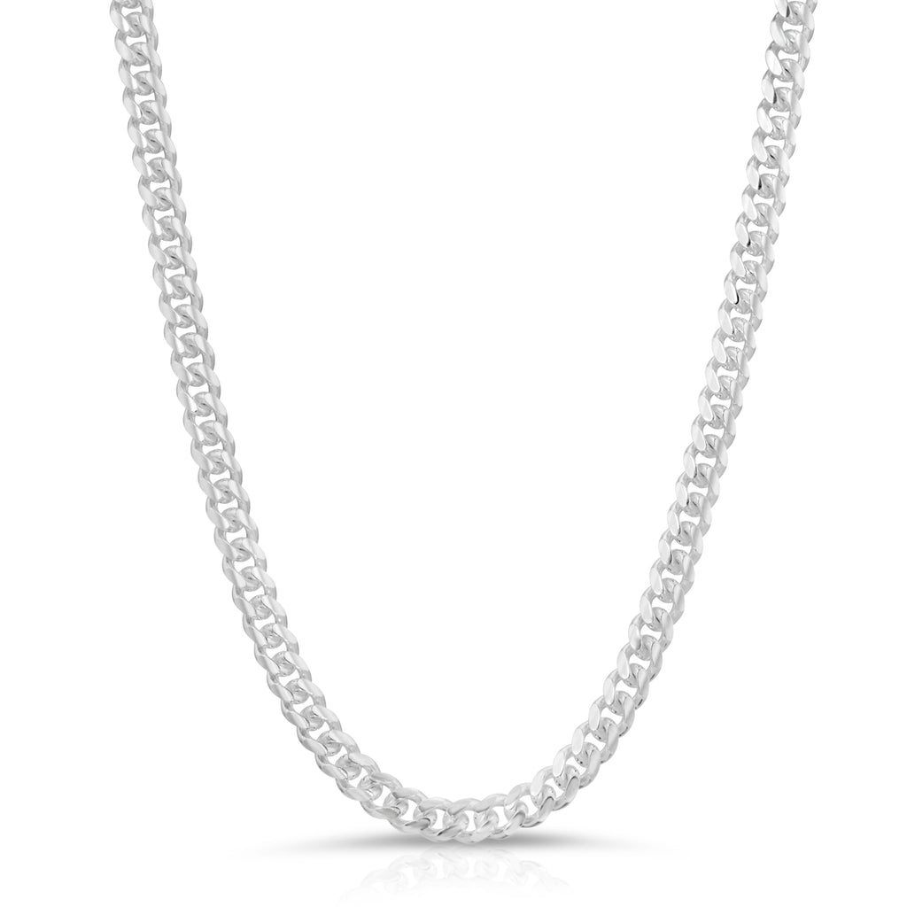 5mm Sterling Silver Miami Cuban Link Chain