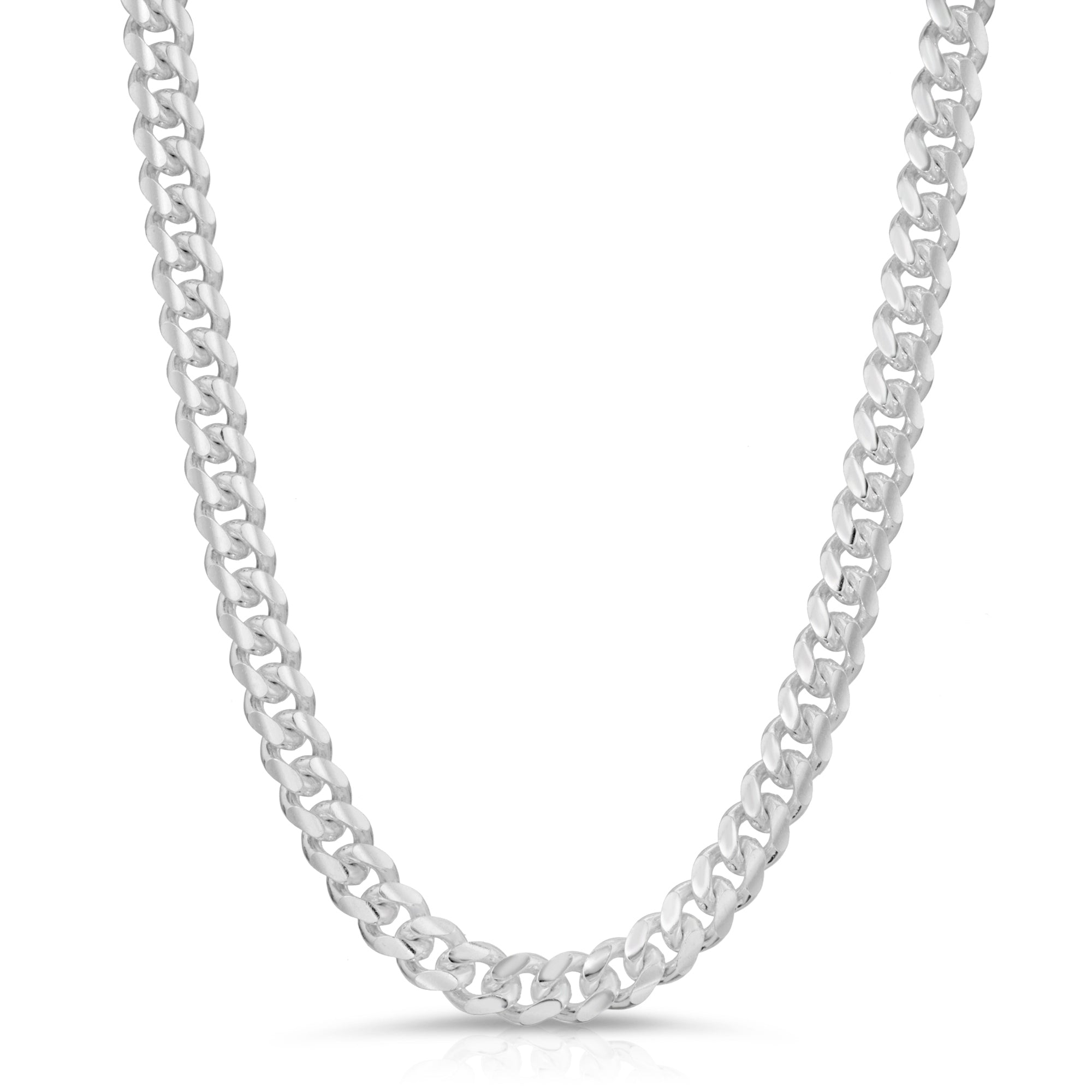 7mm Sterling Silver Miami Cuban Link Chain