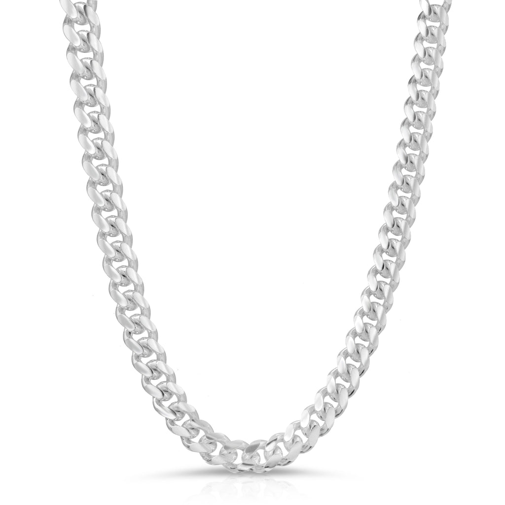 8.5mm Sterling Silver Miami Cuban Link Chain