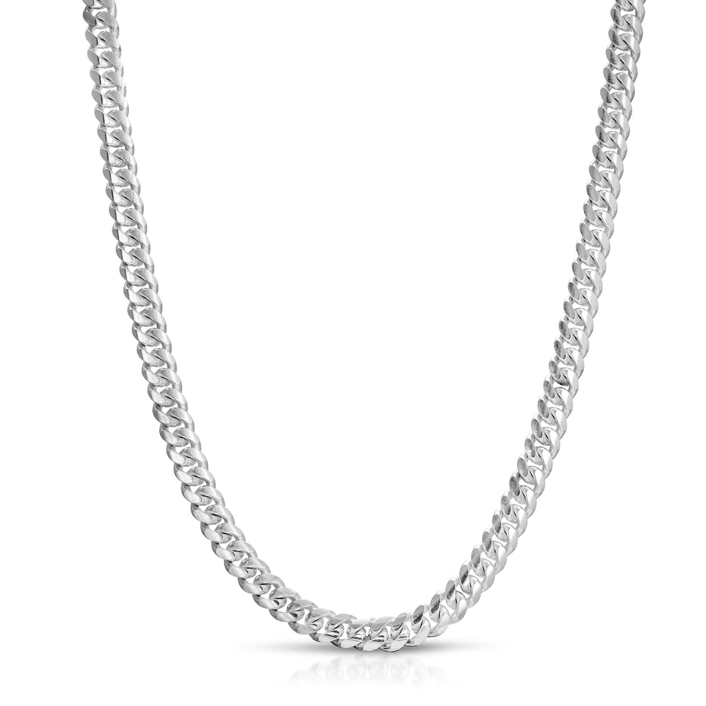 7mm Box lock cuban chain necklace
