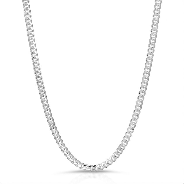 4mm sterling silver 925 box lock chain