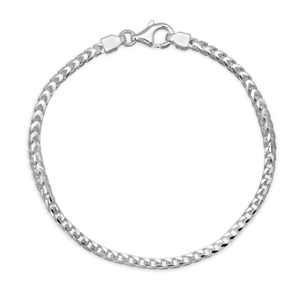 3mm sterling silver Franco Bracelet
