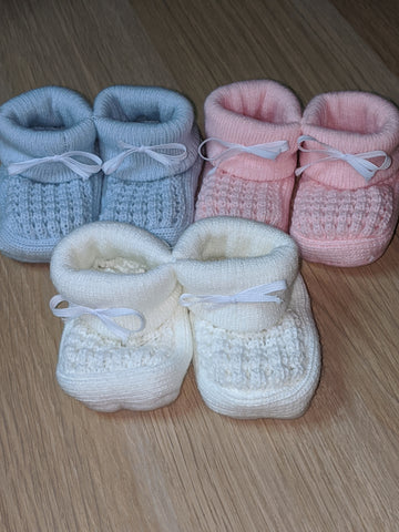 Baby Knitted Booties