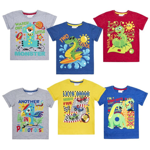 Boys Number T-Shirts 1-6 years