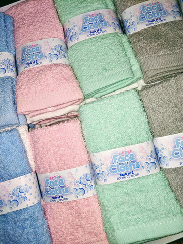 Baby 2 Pack of Cotton Washcloths