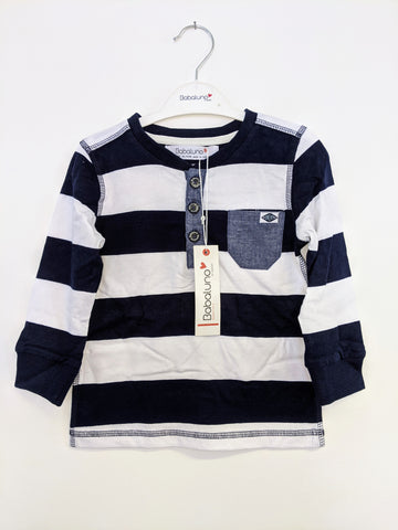 Boys Striped Rugby Style Top