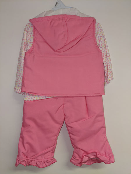 Pink 3 Piece Padded Outfit