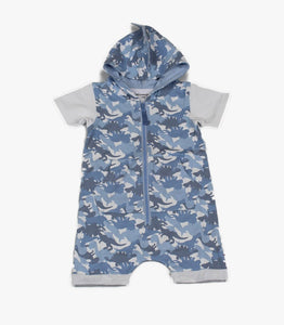 Boys Hooded Dinosaur Romper