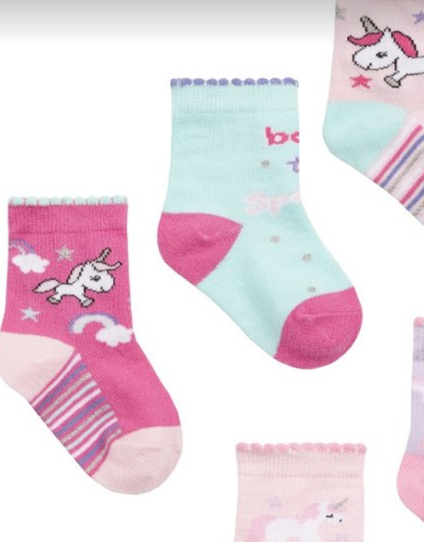 Infant Girls 3 Pack Unicorn Socks