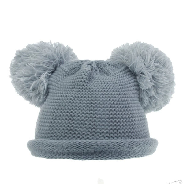 Double Pom Pom Winter Hats