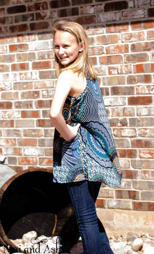 Tween Swing Tunic Abstract Print