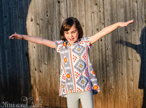 Girls Swing Tunic Aztec Print